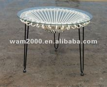 Garden Round rattan coffee table for outdoor
