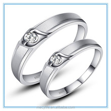 MECYLIFE zircon ring new design kiss of angel stainless steel ring