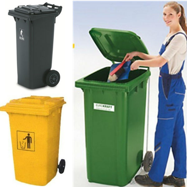 360L,outdoor plastic wheelie dustbin, recycle bin cover
