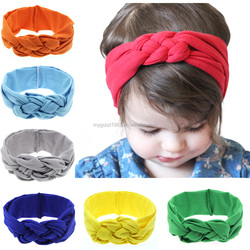 haoxie brand wholesale custom elastic hair band Ribbon Baby Head Rabbit ear flower headband