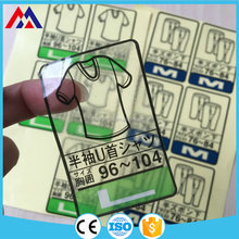 Cost price hotsale clothing label pp label tape sticker