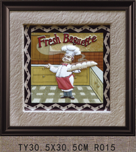 Chef 3d framed art picture frame for home decor, 3d framed art