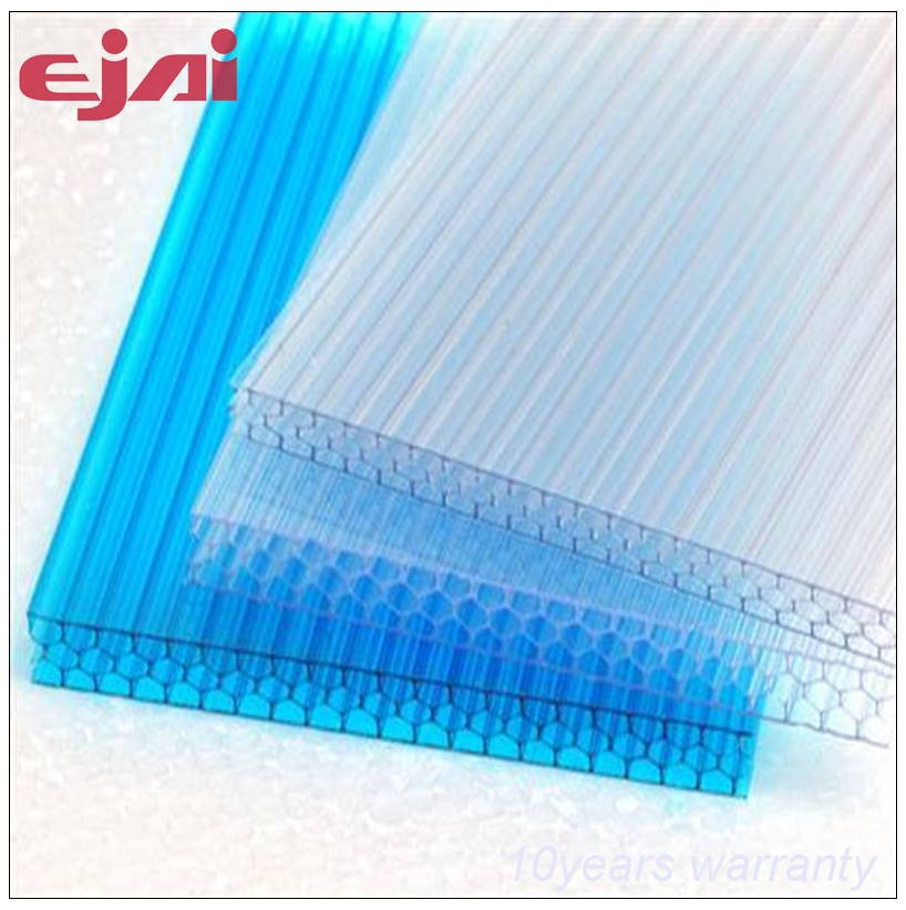 100% virgin 6mm 8mm 10mm 12mm lexan polycarbonate sheet price with 10years warranty