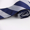 Custom Business Navy Grey Stripe Necktie