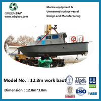 Hydrographic Custom survey sonar ECHO SOUNDER Bathymetry prober Steel hull + Aluminum superstructure work boat