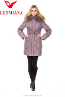 Ladies hooded winter jackets long Slim down coats Big Fur Collar