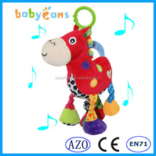 Lovely Plush Material and animal Type horse stuffed animal baby toys