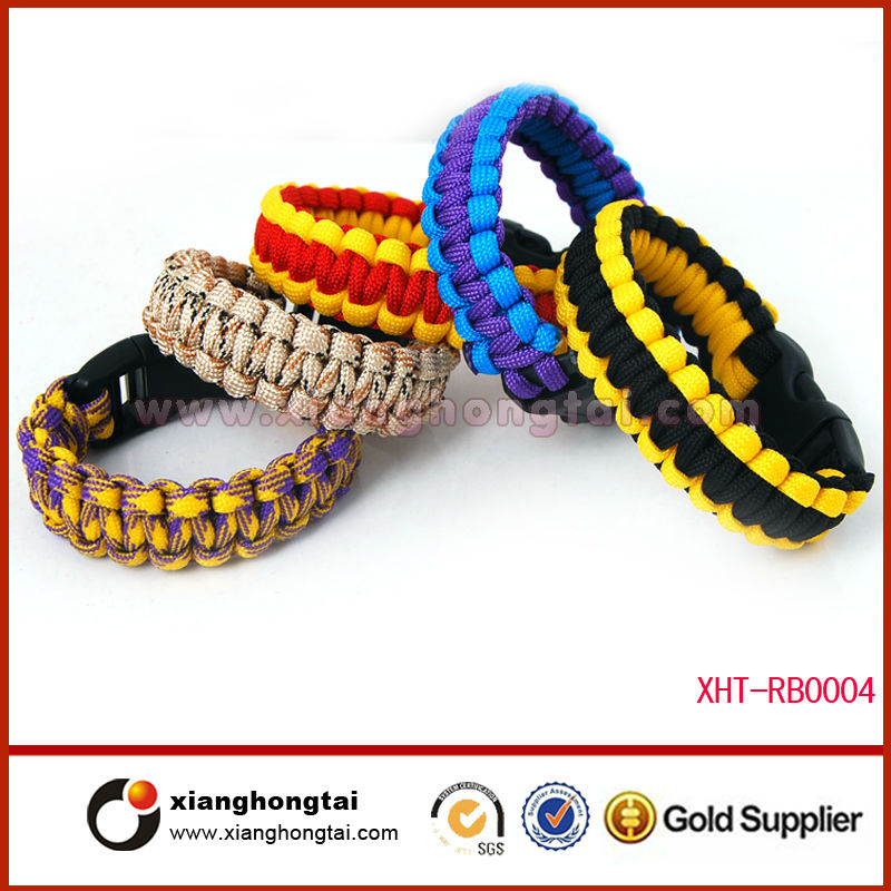 Classic fashion different types of paracord bracelets