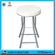 white PU cushion folding stool KC-7235