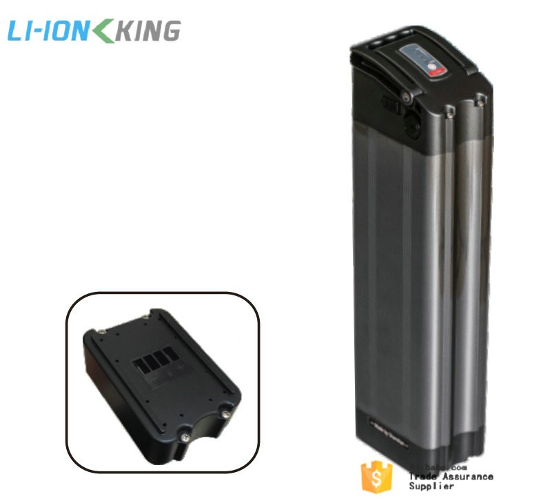 LI-ION KING 250W Silver Fish 24V 10Ah Li ion Ebike Battery Pack with Charger