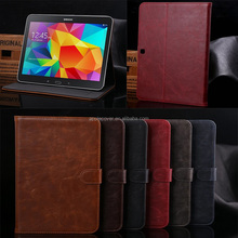 Crazy horse pattern with card slots leather case for samsung galaxy tab 4 10.1 T530 , for samsung galaxy tab 4 cover case