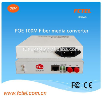 modbus equipment support poe(power over ethernet)100Mbps UTP ethernet fiber/optic media converter
