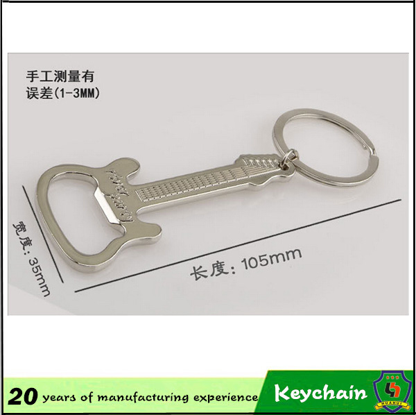 10 years manufacturer guitar opener key chain/ gifts& crafts key chain/ bottle opener key ring for promotion (HH-key chain-924)