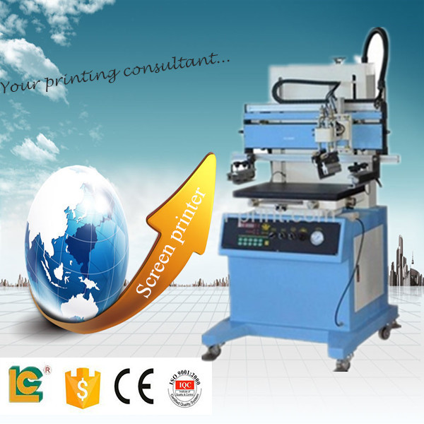 semi automatic plane vacuum screen printer LC-500P for logo, keypad machines for sale
