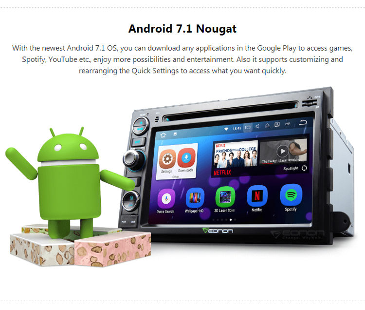 EONON GA8173 for Ford F-150 7 inch Android 7.1 Multimedia Car DVD GPS Navigation
