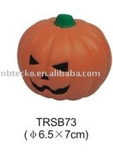 PU stress pumpkin/anti stress halloween pumpkin/pumpkin shape PU squeeze ball