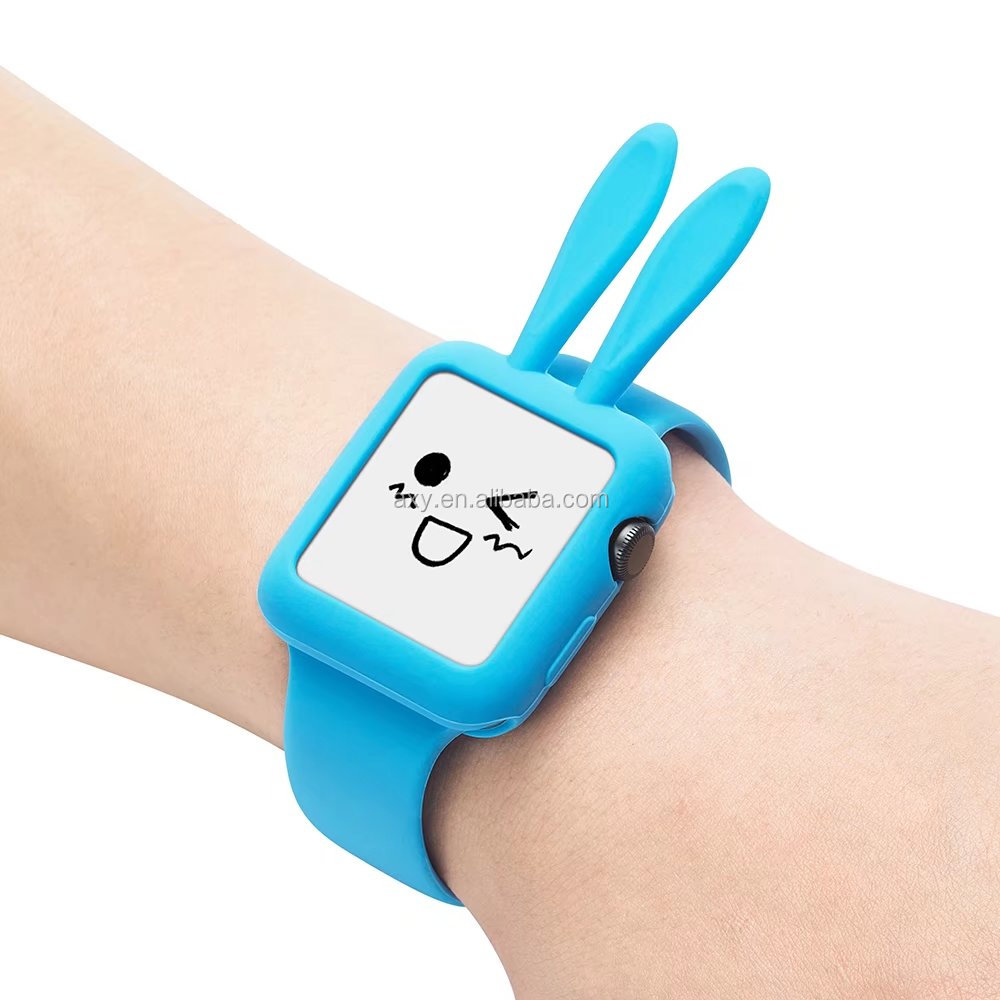 Silicon Cute Rabbit Ears WatchProtective Case for Apple Watch 42mm 38mm