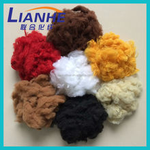 Wholesale solid dyed color polyester synthetic fiber for padding