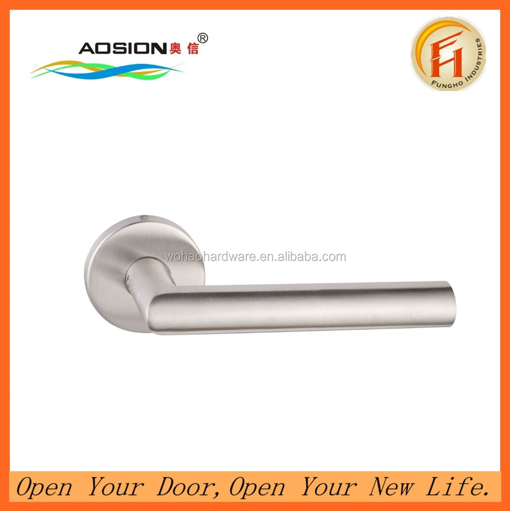 High quantity apartment fireproof solid lever type lever door handle