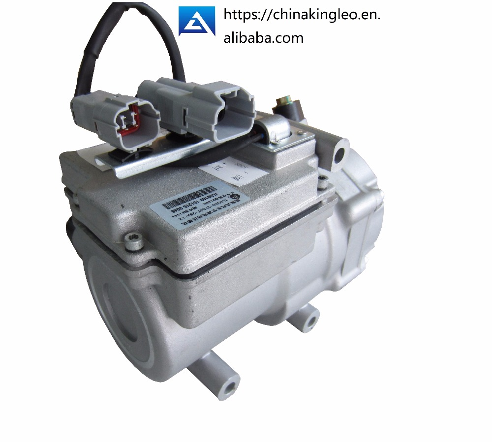 CE <strong>R134a</strong> scroll brushless 450v DC car air condition compressor for Electric Hybrid car air conditioner