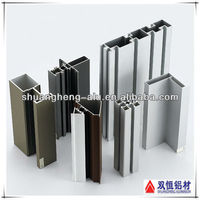 Aluminium channel for glass with different andozied color