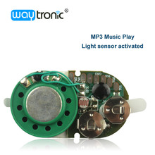 Light activated mini circuit board MP3 sound music chip for greeting cards