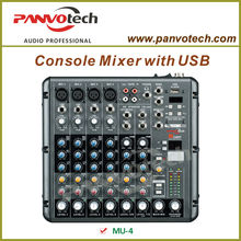 Music mixer with USB player