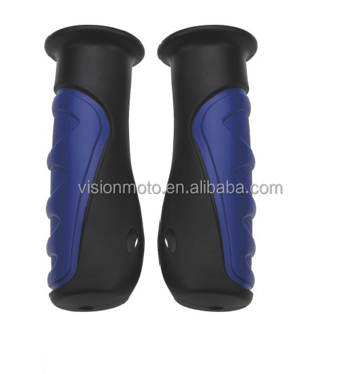 High quality Comfortable natural rubber blue motorcycle handlebar grips