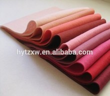 non woven needle punched polyester colorful felt