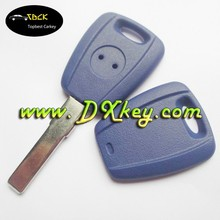 Factory price blue color transponder key blank for fiat key shell fiat key