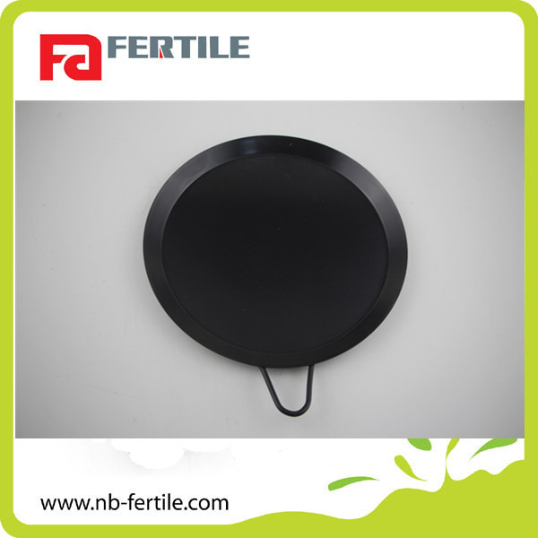 118227 Round non-stick bake pan carbon steel with handle