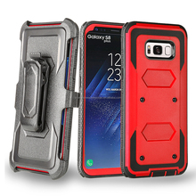 For Samsung Galaxy S8 PLUS/S8 Edge Cover Tough Armor Case with Kickstand Holster Belt Clip
