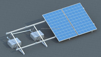 Solar mounting system for flat roof