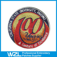 School Uniform Decoration Custom Made Embroidery Patches Badge