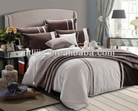 KOSMOS-4pcs home textile 100% cotton embroidery lace quilt cover set embrued duvet cover set classic bed linen set made in china