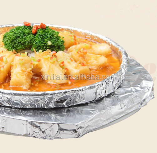 disposable easy clean-up aluminum foil plates paper for dishes