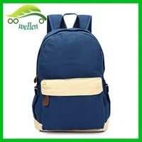 new superior pure cotton canvas school bag back wholesale