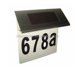 stainless steel 4 led solar led address numbers sign