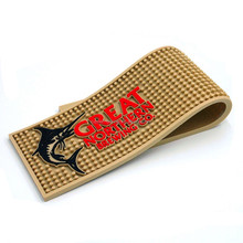 Best Selling Rubber Beer Mat, Logo Print Soft PVC Bar Mat Barmat