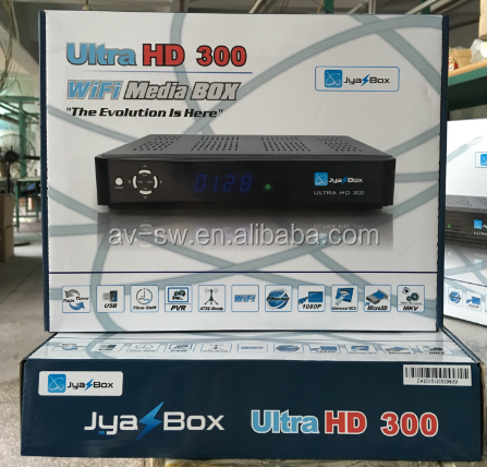 jyazbox ultra HD v300 <strong>satellite</strong> tv receiver with turbo 8psk Qpsk free shipping to puerto rico and canada 8pcs/lot