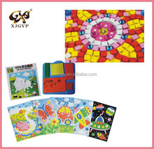 Kids EVA Mosaic Stickers 3D Art Crafts Puzzle AnimalsTransport Children's DIY Educational Toy