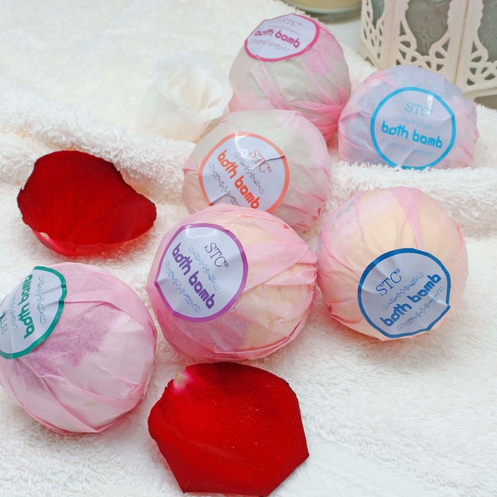 6pcs Butter cupcake bath fizzer with candy for christmas gift set