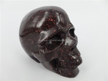 Natural chicken blood carved stone skulls carvings for sale or decoration