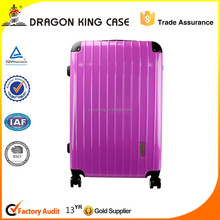 Purple ABS+PC plastic hard case travel luggage