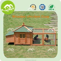 Fashion quality wooden house chicken house with run