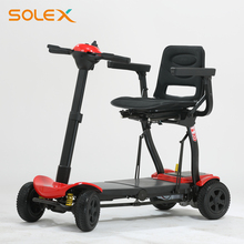 Wholesale Aluminum Alloy Lightweight Foldable Lithum Battery 4wheel Electric Folding Mobility Scooter