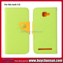 cell phone button wallet flip leather case for blu tank 4.5, offer many other models