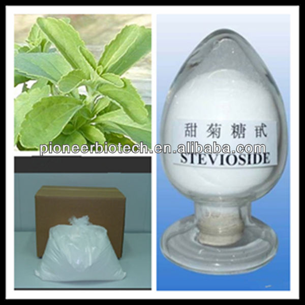 100% Natural Stevia Extract with Stevioside CAS 91722-21-3 Welcome Inquiry