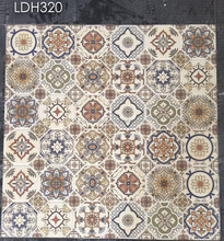 Flower Pattern Rustic Glazed Ceramic Porcelain Bathroom Floor Tile