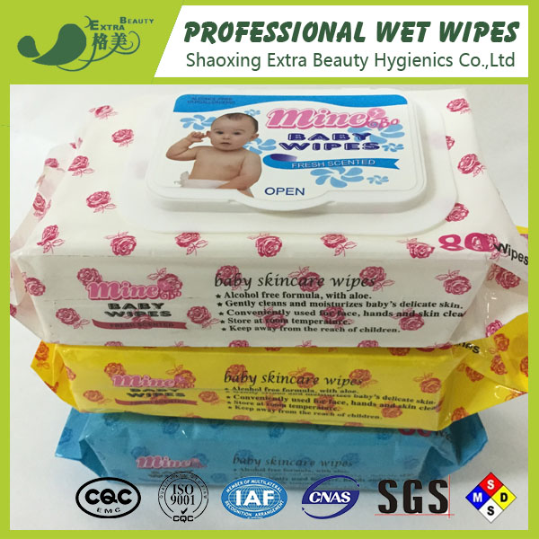 OEM printing baby care wet tissue